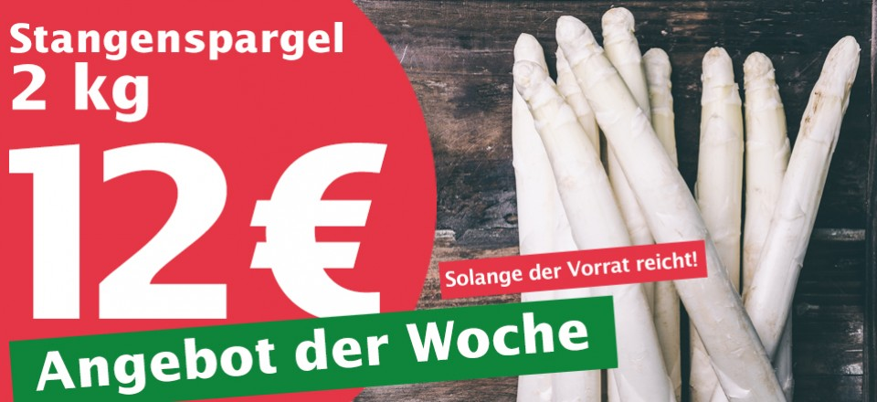 Spargel-Angebot